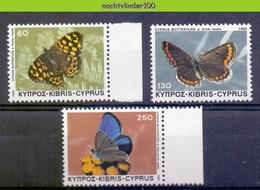 Mwe2647 FAUNA VLINDERS BUTTERFLIES SCHMETTERLINGE MARIPOSAS PAPILLONS CYPRUS 1983 PF/MNH - Schmetterlinge
