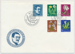 1960 Illustriertes Pro Juventute FDC Ohne Adresse - 183-187 / 722-725 - Pro Juventute