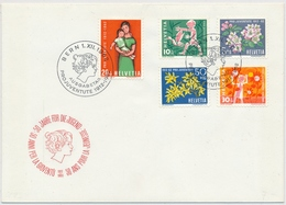 1963 Illustriertes Pro Juventute FDC Ohne Adresse - 193-197 / 758-762 - Pro Juventute