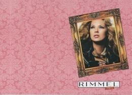 Carte Publicitaire Rimmel London Kate Moss Format Carte Postale 10 X 15 Cm - Perfume & Beauty
