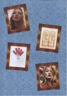 Entête De Lettre A4 Publicitaire Parfum Rimmel London Publicité Mannequin Kate Moss Lasting Finish Maquillage - Perfume & Beauty