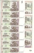 ZIMBABWE 5 DOLLARS 2007 UNC P 66 ( 10 Billets ) - Zimbabwe