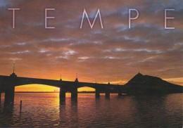 Arizona Tempe Mill Avenue Bridge At Sunrise - Tempe