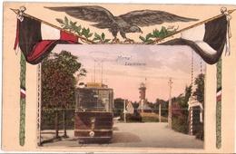 MEMEL Klaipeda Litauen Straßenbahn Tram Linie 8 Louisenstr Lighthouse Patriotika Deutscher Adler Flagge Ungelaufen - Ostpreussen
