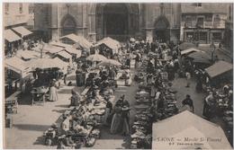 CHALON-sur-SAONE (71) MARCHE SAINT- VINCENT. 1906. - Chalon Sur Saone