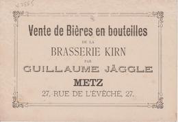 57 -METZ - PUBLICITE BRASSERIE KIRN 27 RUE DE L'EVECHE - Metz