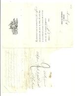 """1155 """"INVITO AL BALLO - BIELLA - 1844""""  DOCUMENTO  ORIGINALE - Partecipazioni"""