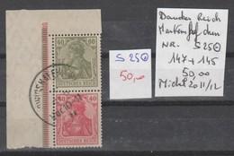 TIMBRES OBL D ALLEMAGNE COMPOSEES Nr S 25 OBL = 147+145  COTE 50 € - Allemagne