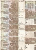 ZIMBABWE 20000 DOLLARS 2008 VF P 73 ( 10 Billets) - Zimbabwe