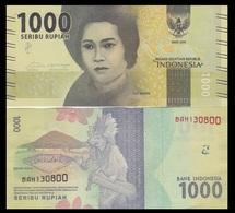 Indonesia P154, 1000 Rupiah, Tjut Meutia / Banda, Tari Tifa Dancer 2016 UNC UV - Indonesia