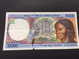CENTRAL AFRICAN STATES P305F 10000 FRANCS AUNC - États D'Afrique Centrale