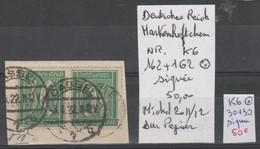 TIMBRES OBL  D ALLEMAGNE COMPOSEES Nr K6 OBL =162+162  SIGNEE  COTE 50 € - Allemagne