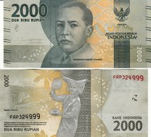 Indonesia P155, 2000 Rupiah, Thamrin / Dancer With Plates 2016 UNC See UV & W/m - Indonesia