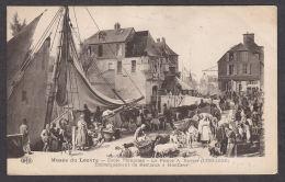 PL146/ Auguste-Xavier LEPRINCE, *Embarquement De Bestiaux à Honfleur*, Musée Du Louvre - Schilderijen