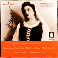 CAVALLERIA RUSTICANA Opéra De P. Mascagni. Enregistré En 1943. 1 Cd. - Opera