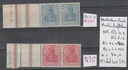 TIMBRES / NEUF *   D ALLEMAGNE COMPOSEES Nr RL 4.1* = RL+L+144 / RL7 = RL+L+145* COTE 56€ - Allemagne