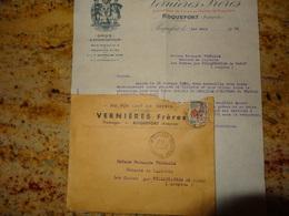 Roquefort  Aveyron  Vernieres Freres Belle Correspondance 1965 - Alimentaire
