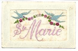 PRENOM - SAINTE MARIE - Carte Brodée - Prénoms