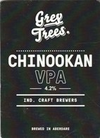 GREY TREES BREWERY (ABADARE, WALES) - CHINOOKAN VPA - PUMP CLIP FRONT - Signs