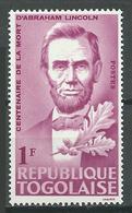 Togo YT N°449 Abraham Lincoln Neuf ** - Togo (1960-...)
