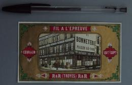 Textile 093, Etiquette Chromo Litho, L Danel & Lille, RR Royer Richer à Troyes - Autres