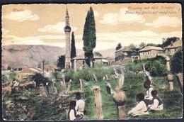 Bosnia And Herzegovina Mostar 1917 / KuK Milit. Post / Militarkommando / Moschee Mit Turk. Friedhof / Mosque, Cemetery - Bosnien-Herzegowina