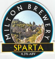 MILTON BREWERY (WATERBEACH ENGLAND) - SPARTA - PUMP CLIP FRONT - Signs