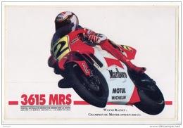 AUTOCOLLANT MOTO . 3615 MRS . WAYNE RAINEY CHAMPION DU MONDE EN 500cc . MALBORO - Réf.n°2313 - - Motos