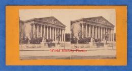 Photo Ancienne Stéréo Avant 1900 - PARIS - L' Ecole Militaire - Architecture Histoire Patrimoine Parisien - Stereoscopic