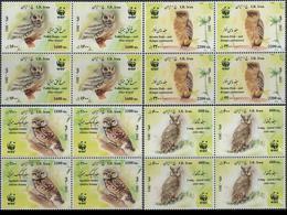 Wwf Owls In Block Of 4 , 2011 Iran - Owls