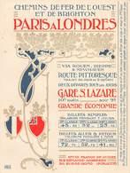 P-jmt1-18-5376 :  CALENDRIER 1901 CHEMINDE FER DE L'OUEST ET DE BRIGTON PAR LA GARE SAINT-LAZARE. - Petit Format : 1901-20