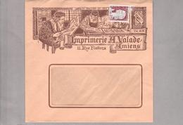 LSC 1961 - Enveloppe Illustrée  IMPRIMERIE  A. VALADE à AMIENS - Postmark Collection (Covers)