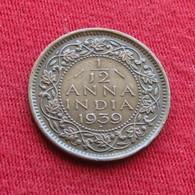 British India 1/12 Anna 1939 (b)   Inde Indie Indien - India