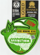 SPITTING FEATHERS BREWERY (WAVERTON, ENGLAND) - BRAINSTORM (2) - PUMP CLIP FRONT - Signs