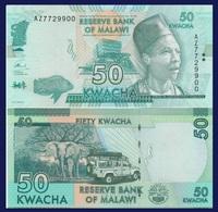 Malawi P64, 50 Kwacha, 2016, Elephant, Safari Jeep UV & Watermark Images UNC - Malawi