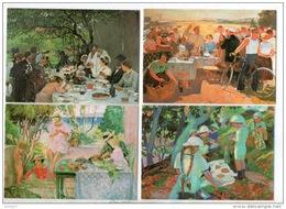 4 CALENDRIERS 2002 . H. LEBASQUE, A. FOURIÈ, M. DENIS, S.V. GERASIMOV . L'AMANDINE VILLENEUVE-SUR-LOT - Réf. N°11572 - Calendari
