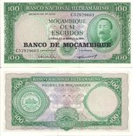 Mozambique P117a, 100 Escudo,s Aires De Ornelas, 1976 UNC - X-LARGE $3 CV - Mozambique