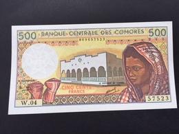 COMORES P10 500 FRANCS 1986 UNC - Comoros