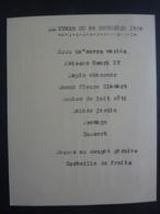 CAMBODGE RESIDENT DE FRANCE à SIEMREAP (Inviation Non Nominative) à  Dejeuner 26 Novembre 1936 - Menus