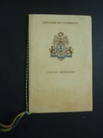 AUTOGRAPHE MENU  PALAIS KHEMARIN PHNOMPENH DINER OFFERT Par S.. NORODOM SIHANOUK ROI DU CAMBODGE 1944 Clas 4 - Menus
