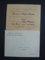 PHNOMPENH, MENU  PALAIS KHEMARIN  DINER OFFERT Par S.. NORODOM SIHANOUK ROI DU CAMBODGE 1943 Clas 4 - Menus