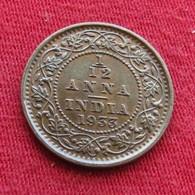 British India 1/12 Anna 1933 (c) KM# 509  Inde Indie Indien - Inde