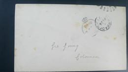 O) 1893 CROWN CIRCLE -BRITISH OFFICE IN BARBADOS, PAID AT, XF - British Virgin Islands
