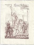 Programme 1898 Ecole St Jean Versaille.  Jeanne D'arc - Programmes