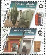 J) 2018 MEXICO, MUSEUM OF THE PHILATELY OAXACA, MUFI, PAIR, MNH - Mexico