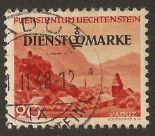 LIECHTENSTEIN 1947 20r Official SG O257 U ##GI52 - Official