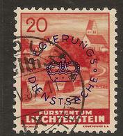 LIECHTENSTEIN 1937 20r Official SG O176 U ##GI51 - Official