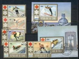 Chad 1972 Winter Olympics Sapporo + MS CTO - Chad (1960-...)