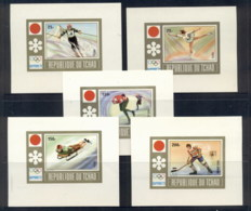 Chad 1972 Winter Olympics Sapporo 5xDeluxe Ms MUH - Chad (1960-...)
