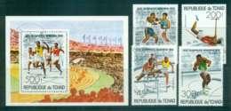 Chad 1976 Montreal Olympics + MS CTO Lot46326 - Chad (1960-...)